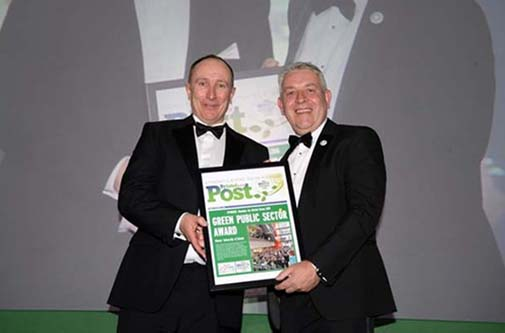 Chris Jones receiving Green Public Sector Award