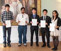 Undergraduate scholarship winners at the award ceremony