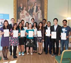 Postgraduate scholarship winners at the award ceremony