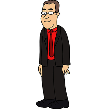 Image of the cartoon of Professor Rich Pancost