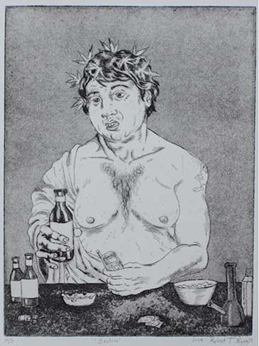 Print of Bacchus by Robert T Pannell