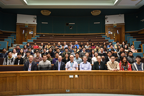 Students and staff in the Faculty of Engineering at an event to celebrate student success and present scholarships and awards