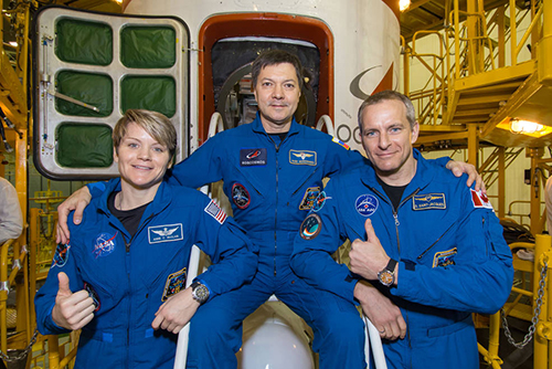 Anne McClain Oleg Kononenko of Roscosmos and David Saint Jacques          NASA  Victor Zelentsov